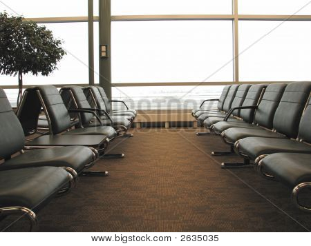 Airport Boarding Gate Lounge