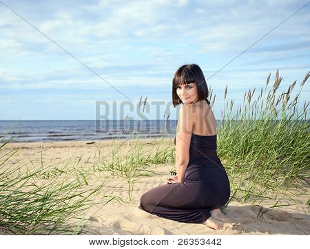 Girl On A Beach.