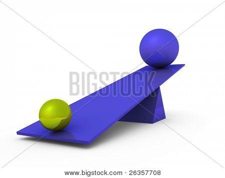 Balls on swing
