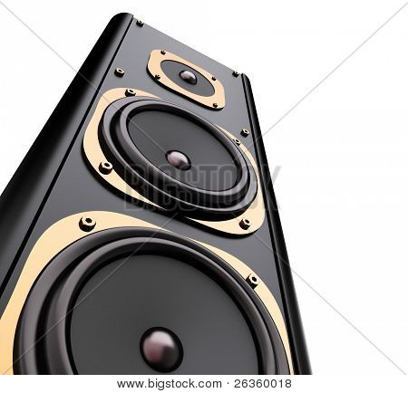 modern speaker system isolated on white