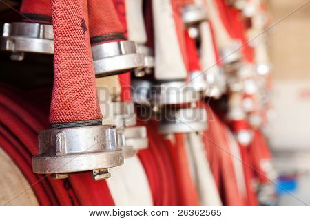 fire-hose set in 	hose station