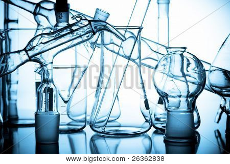 laboratory beaker. flask and other equipment