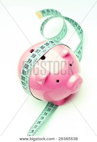analyzing income, piggy bank gaining weight