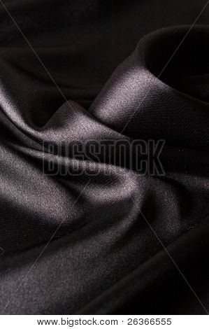 smooth black satin