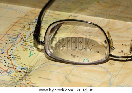 Gläser, die auf der Karte