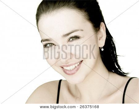 Beautiful woman / girl happy and smiling