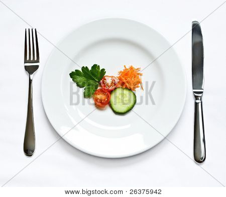 Delicious vegetable plate