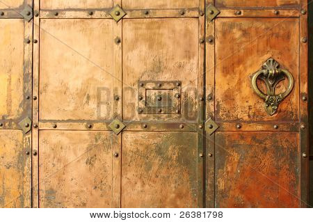 Metal Door Of The Medieval Building