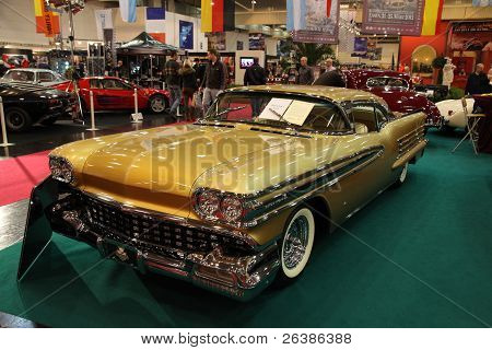 Essen, Germany - Nov 29: The 1958 Oldsmobile Shown At The Essen Motor Show In Essen, Germany, On Nov