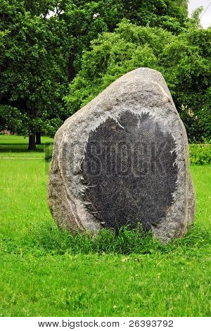 Blank Memorial Stone