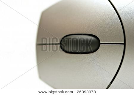abstract macro of a computer mouse, view from the top