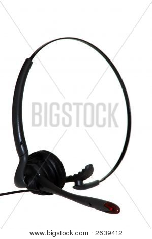 Hands-Free Headset Isolated On White