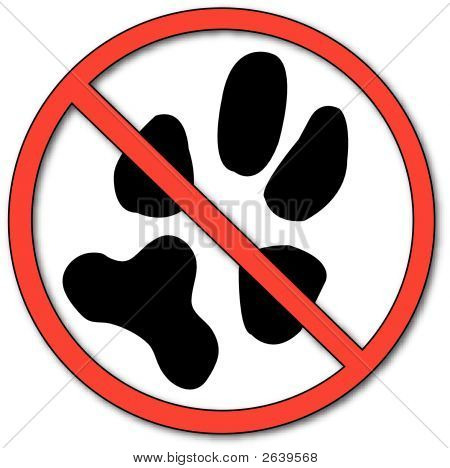No Symbol With Paw Print.Eps