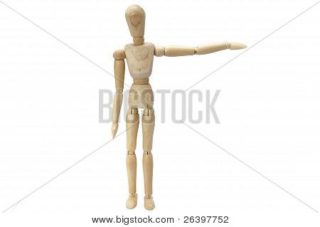 Wooden Manikin Taking Exercise