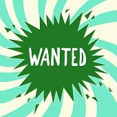Writing Note Showing Wanted. Business Photo Showcasing Desire Something Wish Want Hoping For Somebod poster