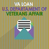 Word Writing Text Va Loan U.s Departament Of Veterans Affairs. Business Concept For Armed Forces Fin poster