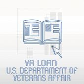 Handwriting Text Writing Va Loan U.s Departament Of Veterans Affairs. Concept Meaning Armed Forces F poster