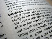 foto of pronunciation  - Definition of success on a dictionary close  - JPG