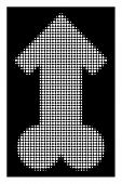 Halftone Dotted Male Sexual Potence Icon. White Pictogram With Dotted Geometric Pattern On A Black B poster