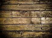 Vignetted Wooden Background For Your Design. Empty Rustic Texture. poster