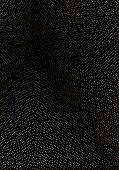 Minimal Cover Design Template. Modern Brochure Layout. Gold Vibrant Halftone Gradients On Black Back poster
