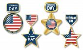Veterans Day Logo Set. Realistic Illustration Of Veterans Day Vector Logo Set For Web Design poster