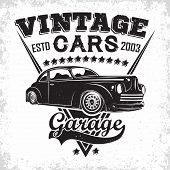 Hot Rod Garage Logo Design, Emblem Of Muscle Car Repair And Service Organisation, Retro Car Garage P poster