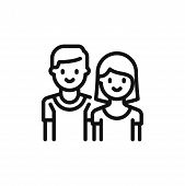 Couple Icon Isolated On White Background. Couple Icon In Trendy Design Style. Couple Vector Icon Mod poster