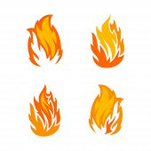 Fire Collection Color Image, Fire Collection Icon, Fire Icon Art, Fire Icon Color Eps10 poster
