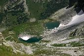 pic of firn  - Alpine Lake Alpine latitudes at different times of the year - JPG