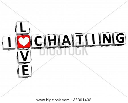 3D I Love Chating Crossword