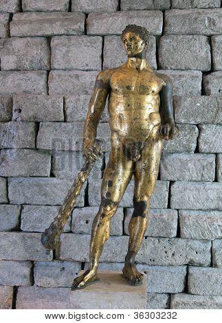 Ancient Roman statue of Hercules