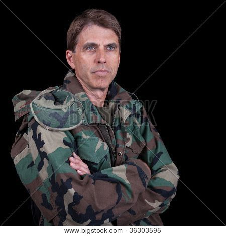 Army Veteran With Arms Crossed