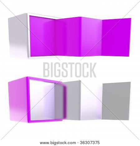 Copyspace Banner Template As Folded Four Part Stand