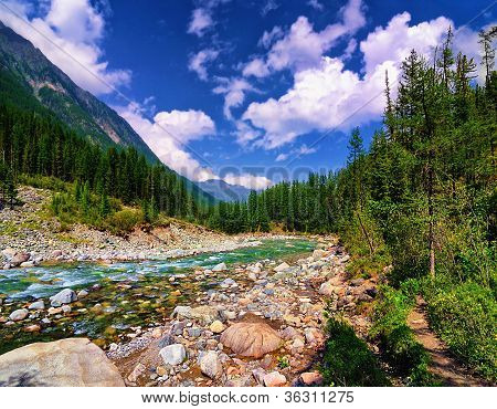 In The Mountain River