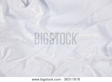 White Velvet Fabric Background