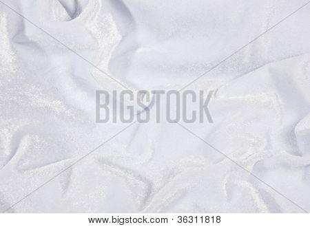 White Velvet Fabric Background