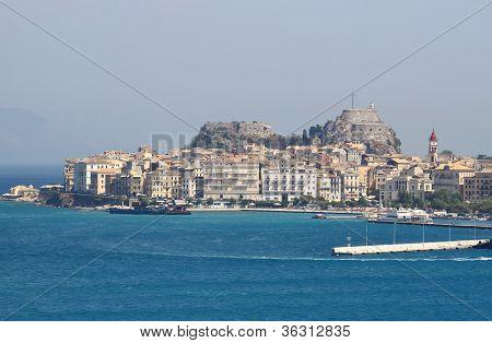 Landscape of Kerkira, Corfu Island