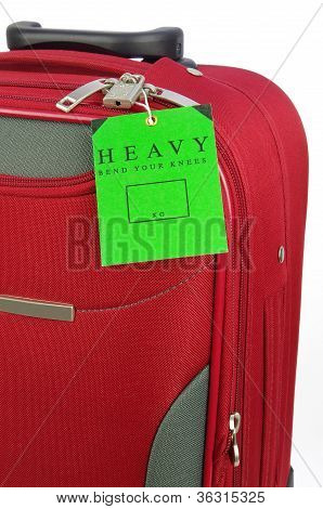 travel bag and heavy tag