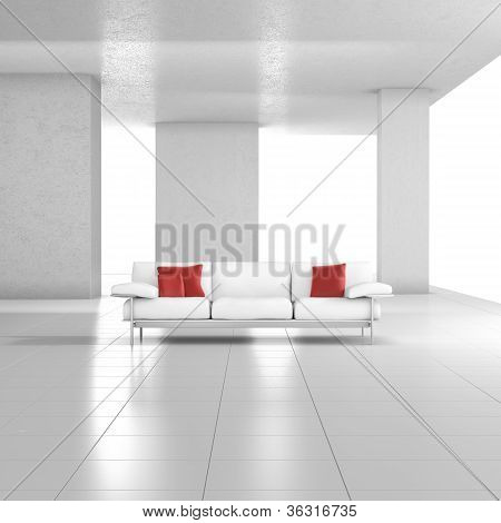 White Room With Couch
