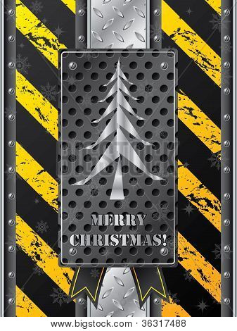 Metallic Christmas Card
