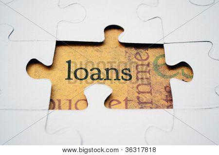 Loan Puzzle Concept