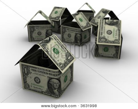 Dollar Houses In 3D
