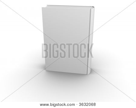 Isolated Blank Book Back