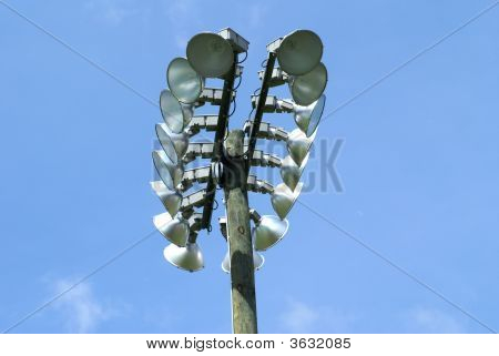 Bright Lights For A Soccer Stadium