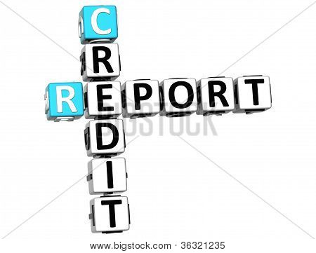 3D Credit Report Crossword