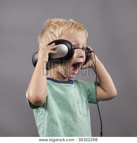 Boy Singing With Headphones