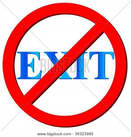 No Exit Icon