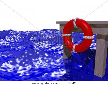 Dock In Rough Water