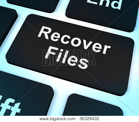 Recover Files Key Shows Restoring From Backup